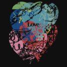 Love hearts  dark by Andi Bird