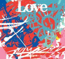 Love hearts  dark Sticker