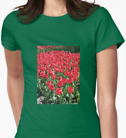 Red Army - Keukenhof Tulips Womens Fitted T-Shirt