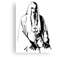 Saruman Outline Print Design Canvas Print