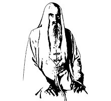 Saruman Outline Print Design Photographic Print