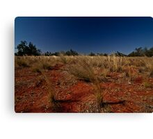 Red Earth, Blue Sky Country Canvas Print