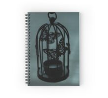 Freedom seeker butterfly in cage Spiral Notebook
