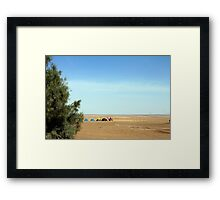 Colourful tents camping in desert  Framed Print