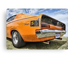 Orange Charger 6 Pack Hemi Canvas Print