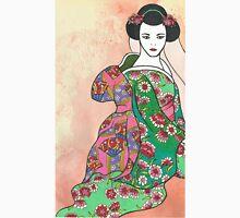 Sitting Geisha with Textured Background T-Shirt