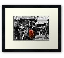 Street musician (Paris, France) Framed Print