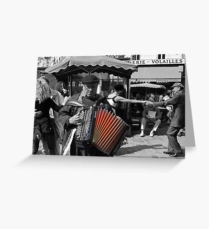 Street musician (Paris, France) Greeting Card