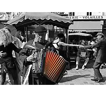 Street musician (Paris, France) Photographic Print