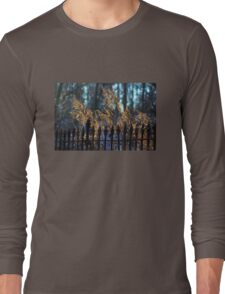 Golden Remnants of Summer in a Wrought Iron Fence Long Sleeve T-Shirt