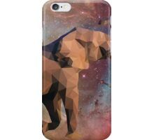 Low Poly Elephant in Space with Nebula iPhone Case/Skin