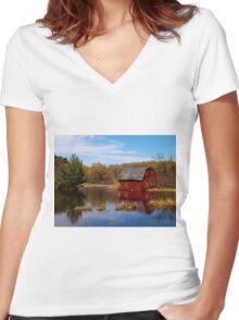 Forgotten Barn Women's Fitted V-Neck T-Shirt