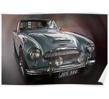 Austin Healy  1957-8 Poster