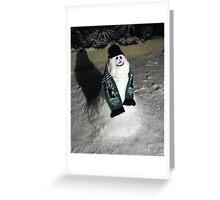 90 - BLYTH SPARTANS SNOWMAN (D.E. 6th January 2010) Greeting Card