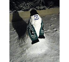 90 - BLYTH SPARTANS SNOWMAN (D.E. 6th January 2010) Photographic Print