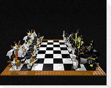 LEGO Chess Set - Samurai vs Knights 1 by geekmorris