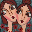 A Sisters Bond by Barbara Cannon  ART.. AKA Barbieville