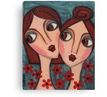 A Sisters Bond Canvas Print