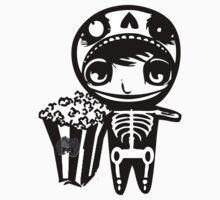 skeleton boy with popcorn by aidans club by aidansClub
