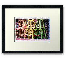 wooden cheer leaders Framed Print