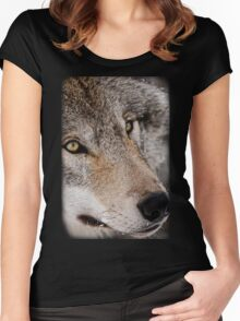 Wolf Shirt - 7 Women's Fitted Scoop T-Shirt