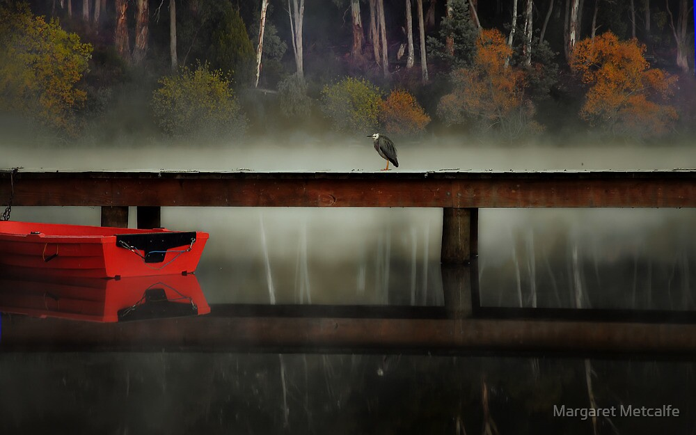 Daylesford Jetty by Margaret Metcalfe