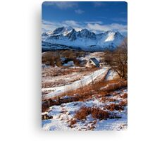 Torrin and Blaven in mid Winter. Isle of Skye,Scotland. Canvas Print
