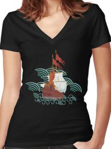 Ottoman Ship 2 Women's Fitted V-Neck T-Shirt