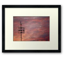 Modern Sunset Framed Print