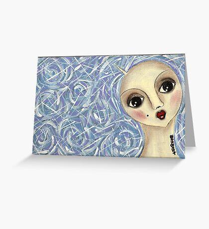 Bluehair doll Greeting Card