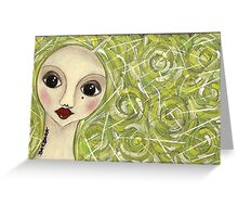 Greenhair doll Greeting Card