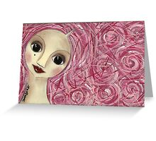Pinkhair doll Greeting Card