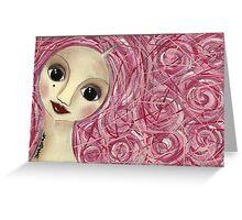 Pinkhair doll Greeting Card