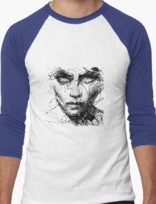 Face Abstract Cool Men's Baseball ¾ T-Shirt