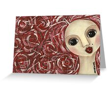 Redhair doll Greeting Card