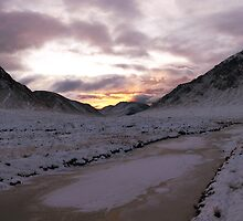 Sunset - Glen Etive and Stob Dearg by KevM