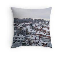 Far Headlingley Winter Throw Pillow