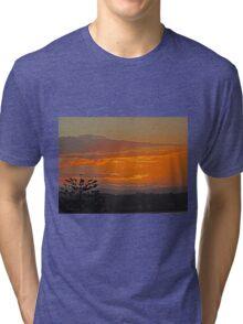 Orange cloud Sunset, Coolangatta, Queensland, Australia Tri-blend T-Shirt