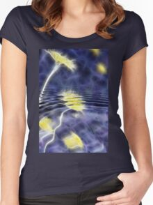Dandelion Pond Abstract I Women's Fitted Scoop T-Shirt
