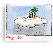 rainy day reading. Canvas Print