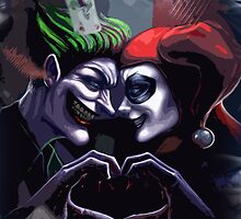 Harley Quinn & Joker mad love  by EllenHolmes