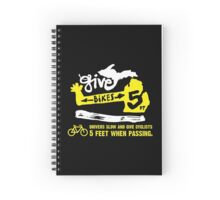 Give Bikes 5 Feet : Road Black Spiral Notebook