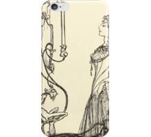 Snowdrop & Other Tales by Jacob Grimm art Arthur Rackham 1920 0020 Mirror on the Wall Snowdrop iPhone Case/Skin