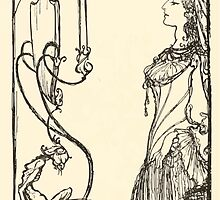 Snowdrop & Other Tales by Jacob Grimm art Arthur Rackham 1920 0020 Mirror on the Wall Snowdrop by wetdryvac