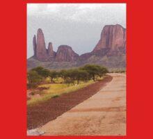 a desolate Mali landscape One Piece - Short Sleeve