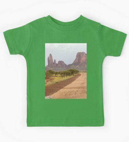 a desolate Mali landscape Kids Tee