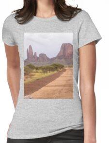 a desolate Mali landscape Womens Fitted T-Shirt