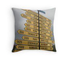 2407 Kilometres to the North Pole. Throw Pillow