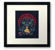 Maneki Dragon Framed Print