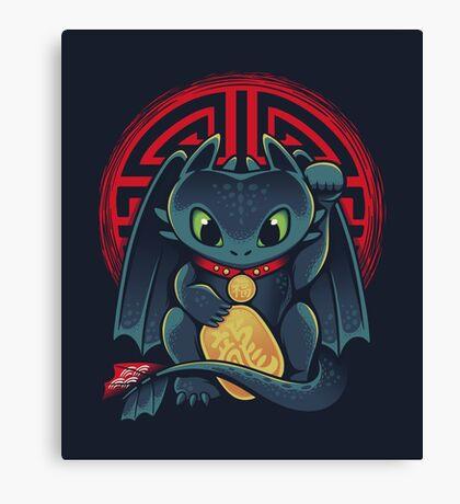 Maneki Dragon Canvas Print